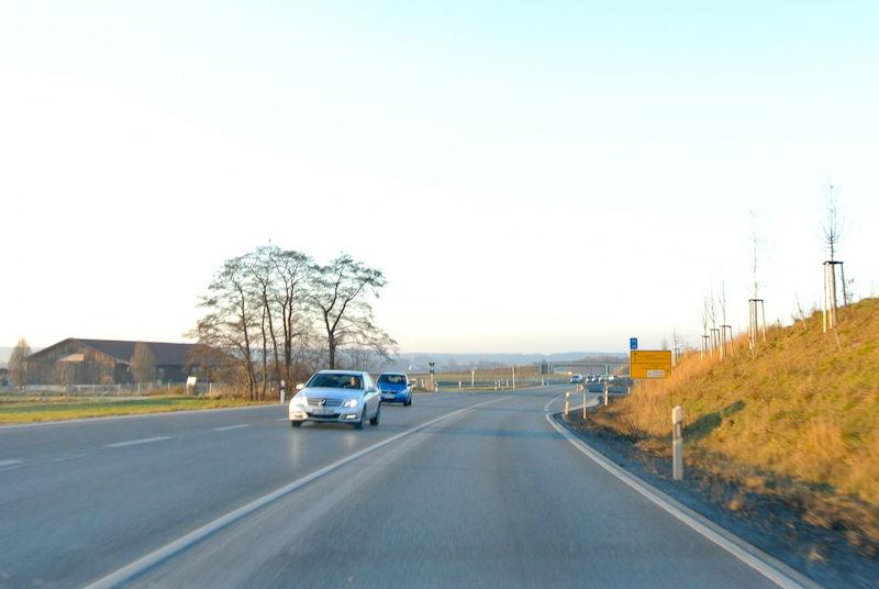 Wieder Unfall auf der B2. Foto: M. Limbacher