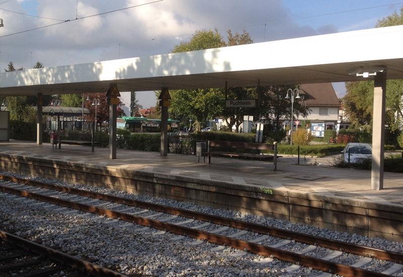 Leichtsinn oder Suizid? Der Puchheimer Bahnhof nach dem Unglück. Foto: Puchheimer Stadtportal