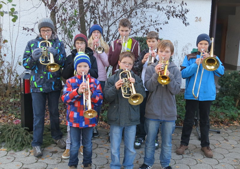 Die Bläserjugendgruppe des Puchheimer Posaunenchors, Foto: Günther Dietrich