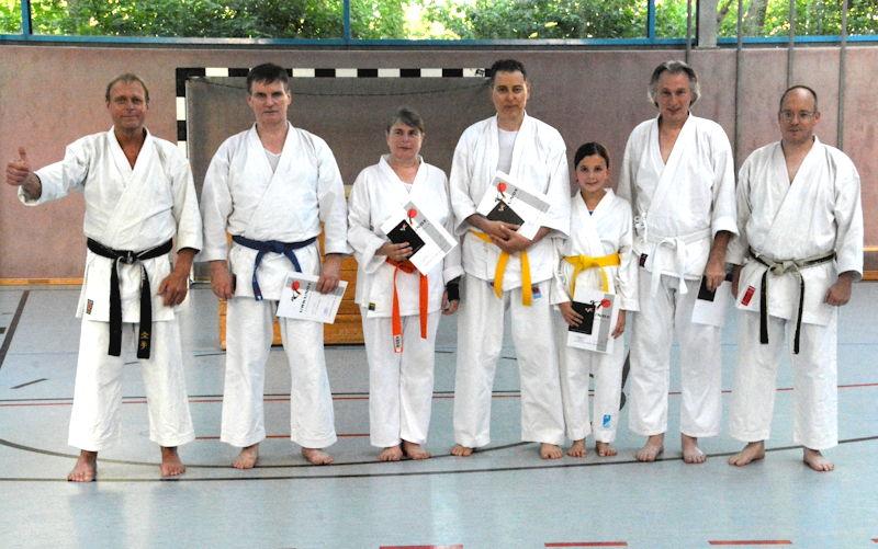 Karate Gürtelprüfung im Sportzentrum. Foto: Matthias Metschkoll
