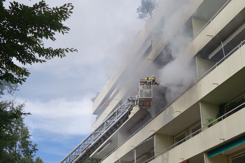 Wohnungsbrand in der Nordendstraße, Foto: FFW Puchheim-Bhf.