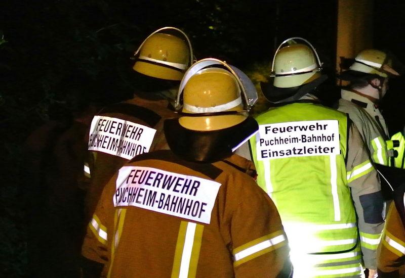 Brandschützer rechtzeitig vor Ort. Foto: Puchheimer Stadtportal