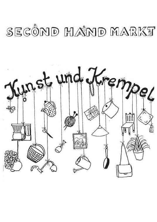 secondhand markt kunst und krempel puchheimer stadtportal. Black Bedroom Furniture Sets. Home Design Ideas