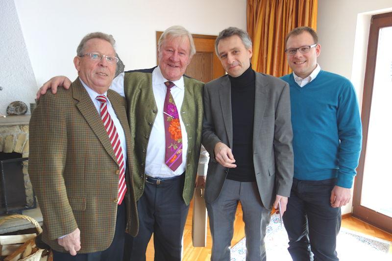 Erich Pürkner, 2. von links, zu seinem 75. Geburtstag 2015. Foto: C. Jackson