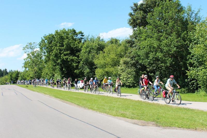 Zum Start mehr als 2.000 Radl-Kilometer für die Stadt Puchheim, Foto: Eduard Knödlseder