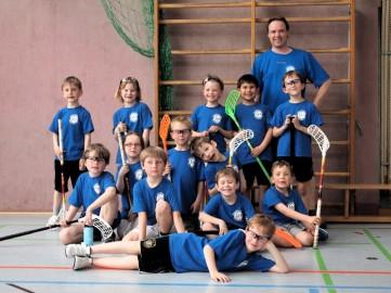 U9 Floorballmannschaft der Sportfreunde Puchheim