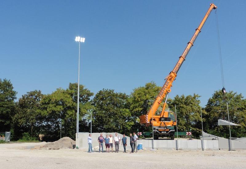Guter Baufortschritt im Sportzentrum Puchheim