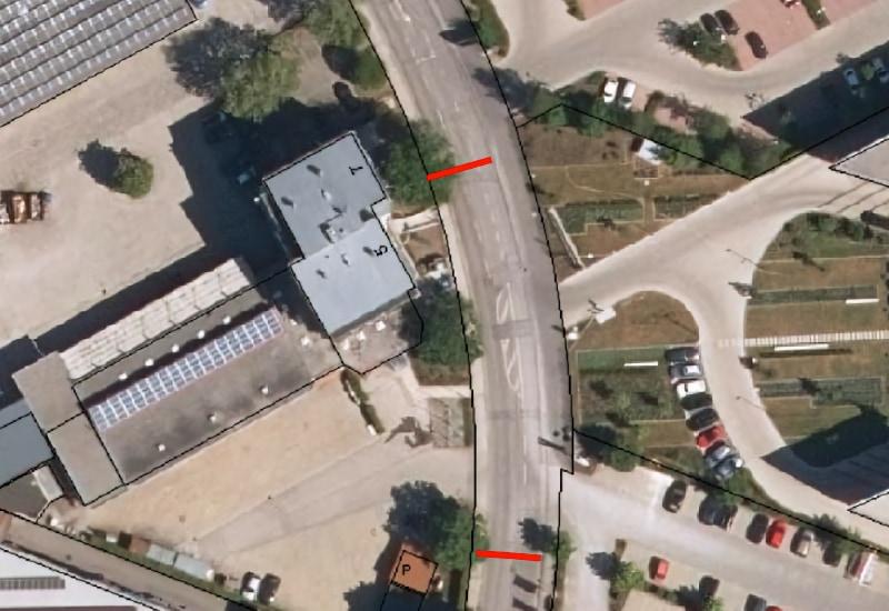 Dieser Teil der Siemensstrasse wird von Montag, 14. Juni 2021, bis Freitag, 25. Juni 2021, halbseitig gesperrt. Bild: Stadt Puchheim