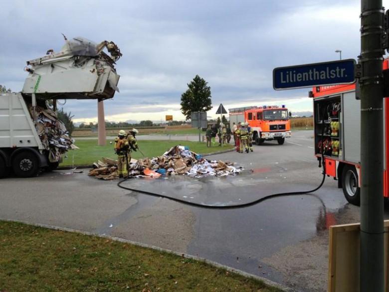 Die Feuerwehr hatte den Brand schnell unter Kontrolle. Foto: O. Breidenbach