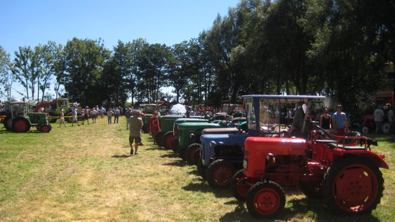 Die bunte Welt der Traktoren beim Puchheimer Bulldogtreffen. Foto: M. Limbacher