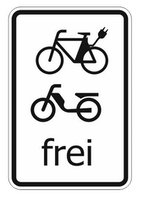 e-bike und mofa frei