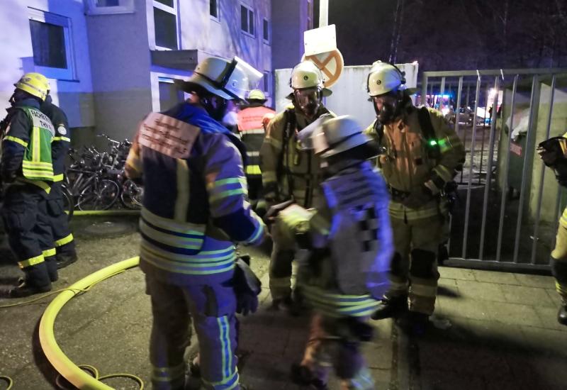Die Freiwillige Feuerwehr Puchheim-Bahnhof im Einsatz.