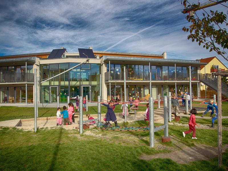 Das Kinderhaus Farbenspiel in der Lagerstraße. Foto: F. Limbacher