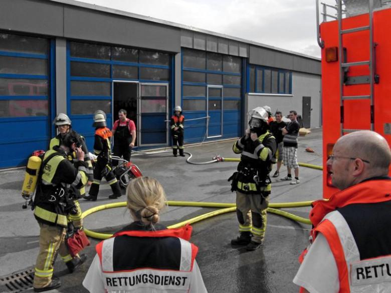 Großübung der Feuerwehren