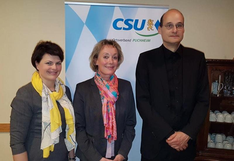 Karin Kamleiter (Mitte) ist neue Fraktionssprecherin der CSU Puchheim