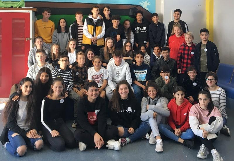 Die Klassensprecher der Mittelschule im Schuljahr 2019.