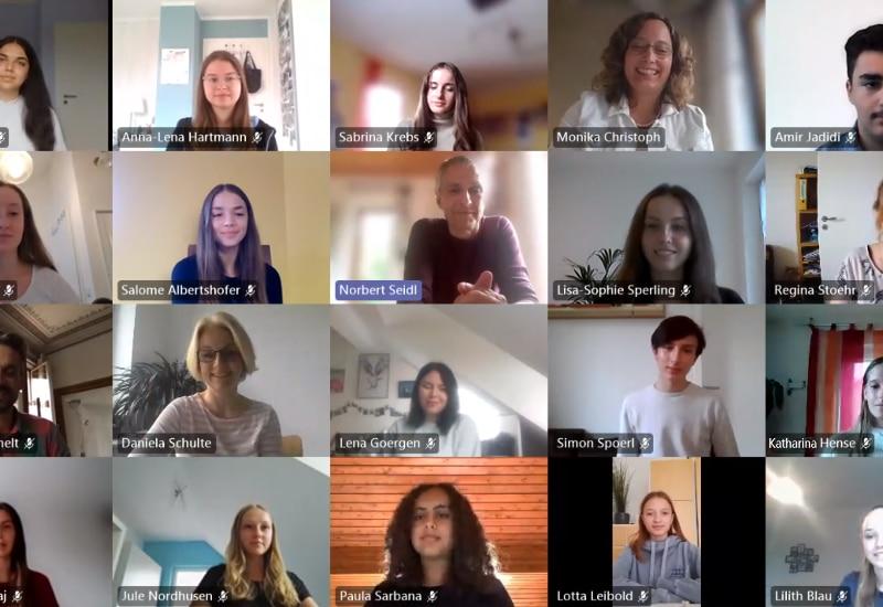 Online-Meeting mit den Puchheimer Lernpatinnen und Lernpaten