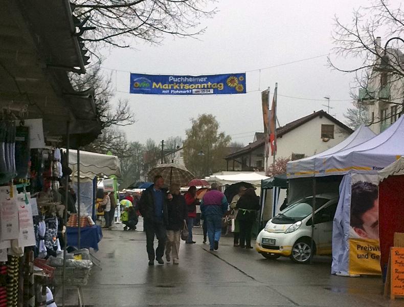 Marktsonntag am 15. April 2012 – macht bei jedem Wetter gute Laune