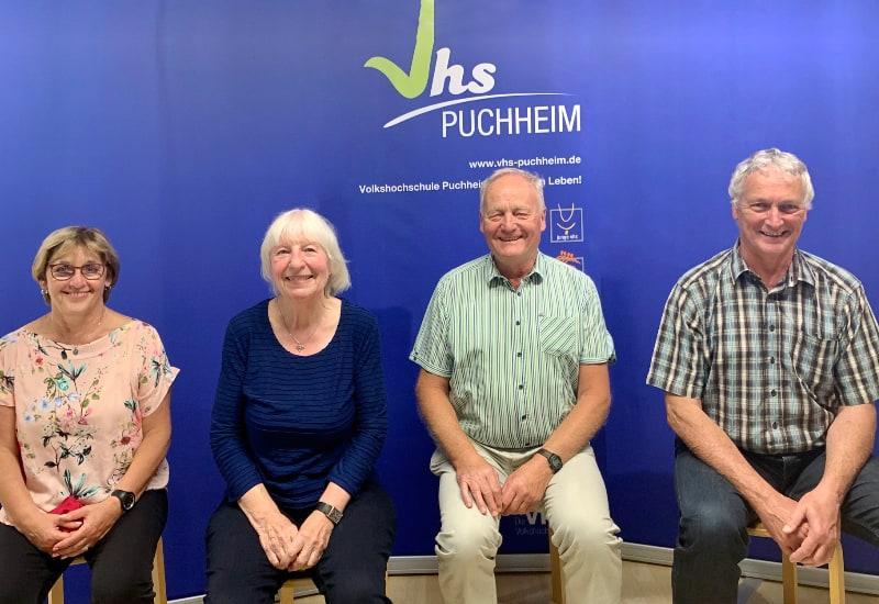 Neuer Vorstand: Lydia Winberger, Ilona Wiebers, Reinhold Koch, Ulrich Schuon