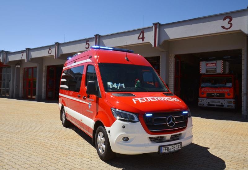 Der neue Mannschaftstransportwagen der Feuerwehr Puchheim-Bahnhof
