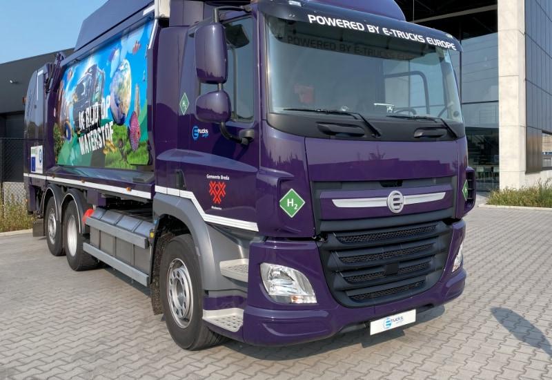 """""""E-Trucks Europe"""": Das Proton Motor-HyRange©-System zur Reichweitenverstärkung rüstet neues Müllsammelfahrzeug von E-Trucks Europe aus."""