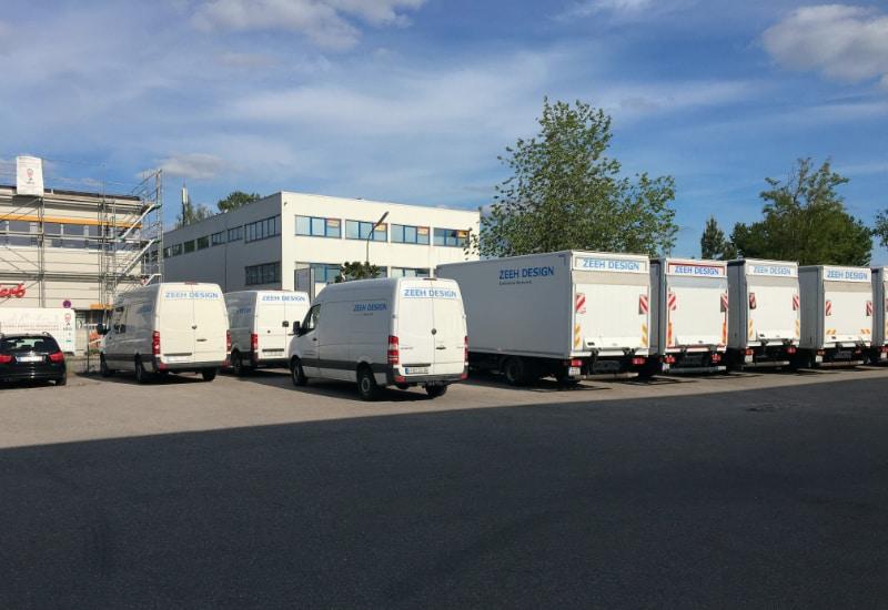 In der Corona-Zeit steht der Fuhrpark der Zeeh Design GmbH still.