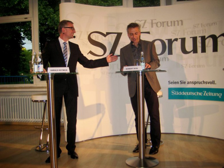 Podiumsdiskussion mit Harald Heitmeir (links) und Norbert Seidl