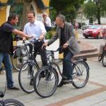 Nobert Seidl und Markus Rinderspacher auf den E-Bike