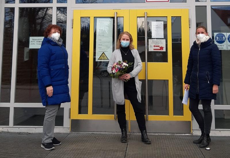 V.l.: Angela Denk, Manuela Wienen, Marion Dasecke. Foto: Sozialdienst Nachbarschaftshilfe Puchheim