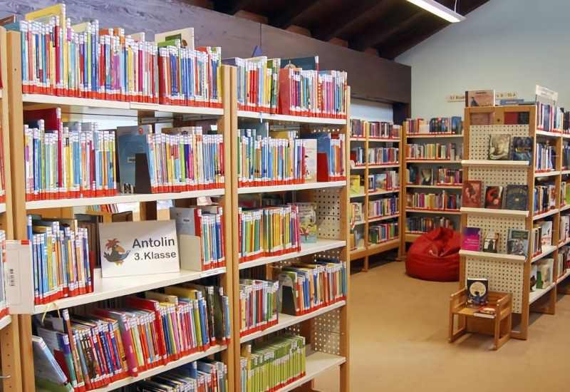 Geschlossen: die Stadtbibliothek.