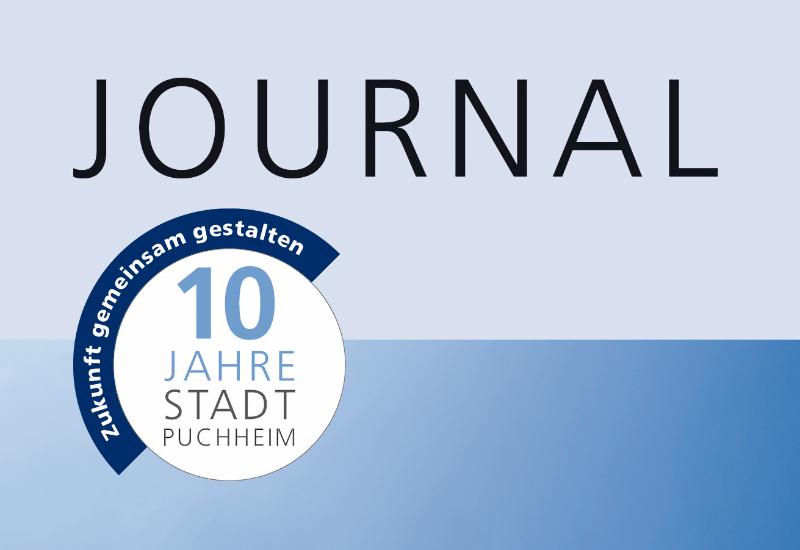 Frühjahrs-Journal der Stadt Puchheim anlässlich des zehnjährigen Jubiläums der Stadterhebung.