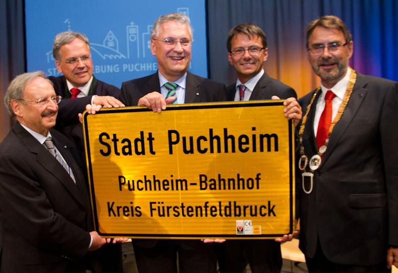Puchheim fünf Jahre Stadt