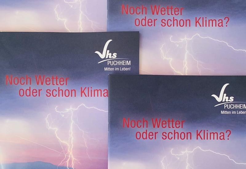 """Das Herbstprogramm der vhs Puchheim mit Schwerpunkt """"Klima"""""""