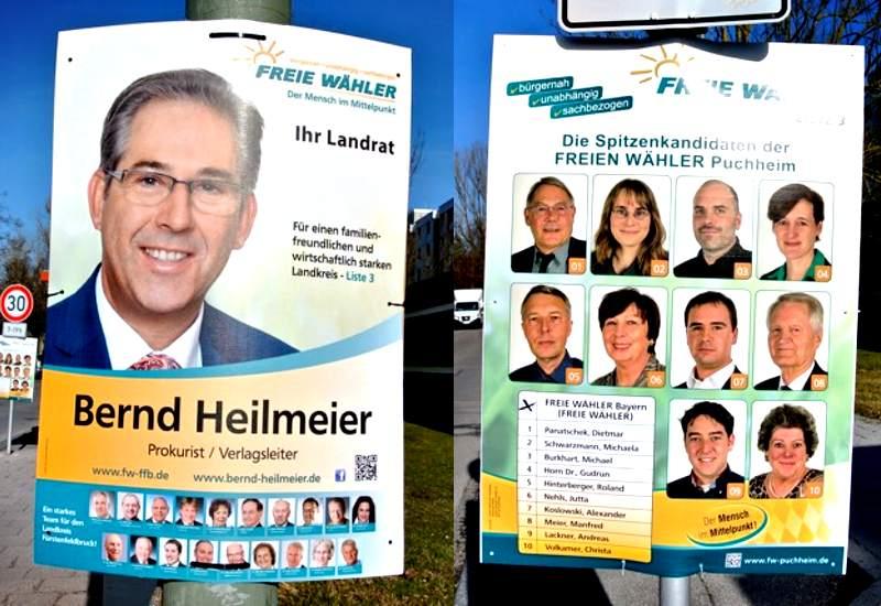 Wahlplakat freie wähler